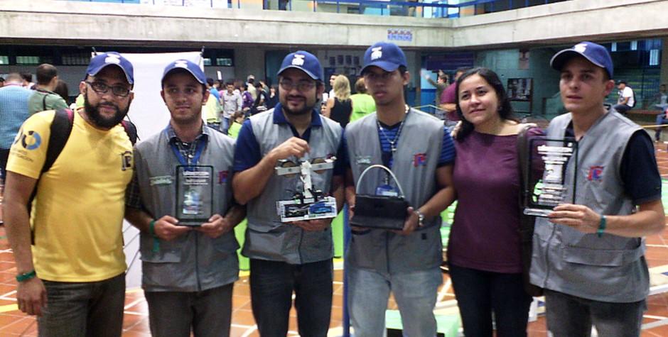 Primer lugar en la Competencia Nacional de Robótica obtuvo la UNET