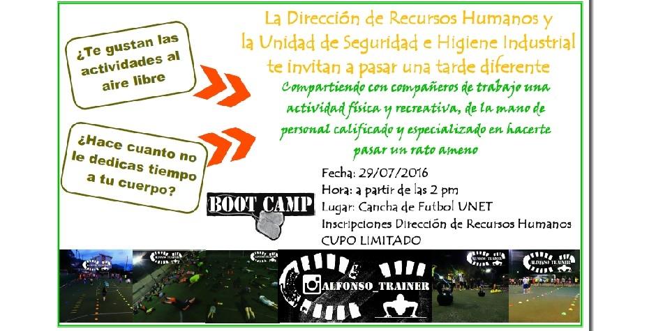 A practicar Bootcamp este viernes 29 de julio
