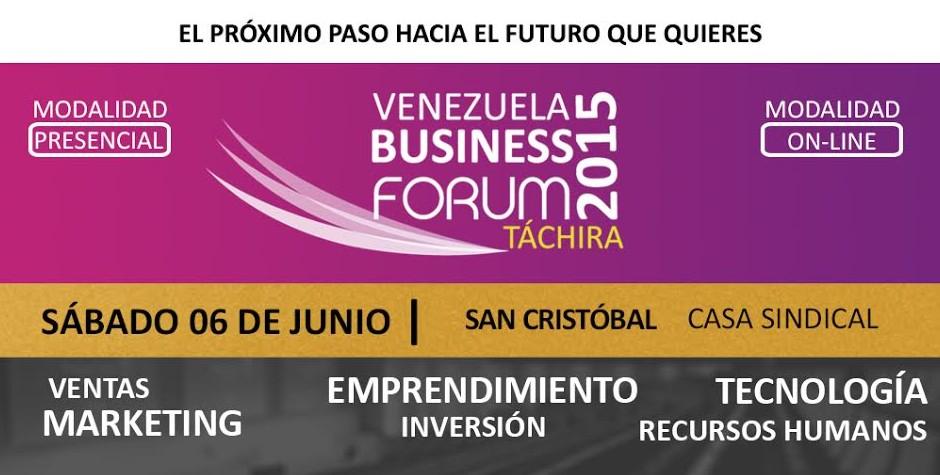 "Emprendedores presentes en ""Venezuela Business Forum 2015"""