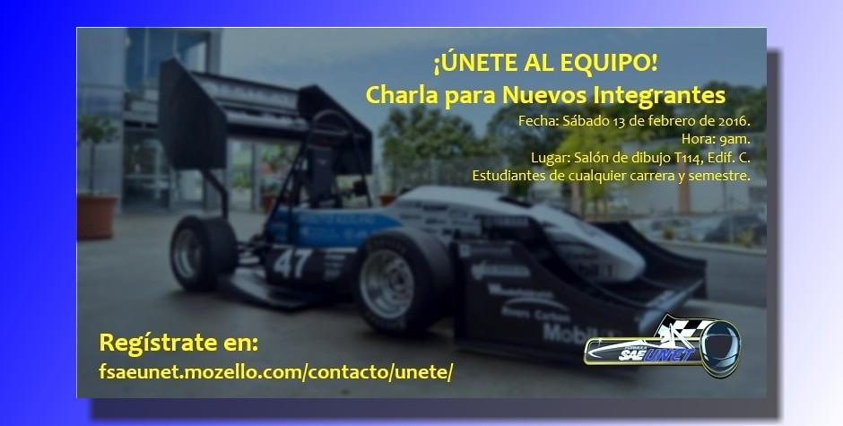 Equipo de  Fórmula SAE-UNET  busca nuevos integrantes
