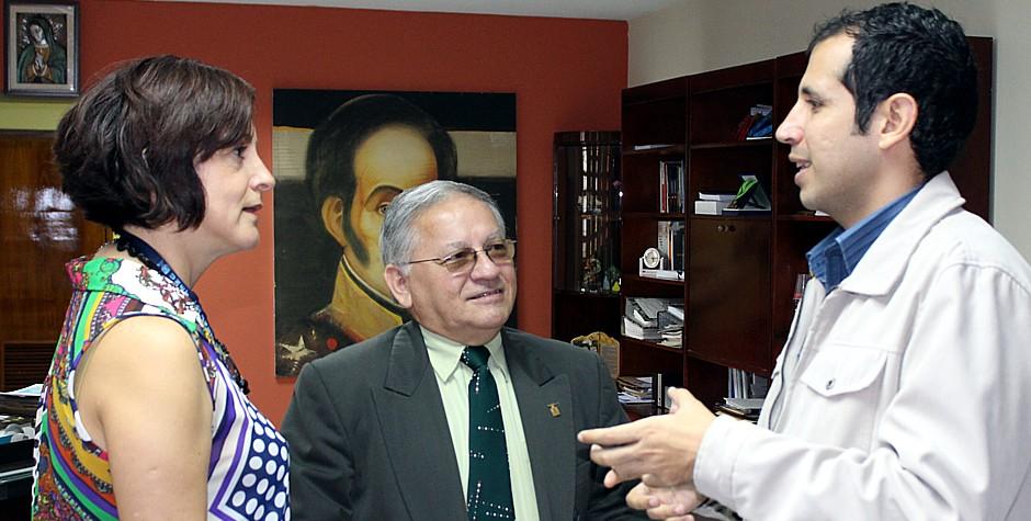 Visita del presidente del Concejo Municipal de San Cristóbal